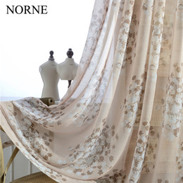 $enCountryForm.capitalKeyWord NZ - Norne Modern Tulle Window Curtains For Living Room The Bedroom The Kitchen Cortina(rideaux) Dandelion Print Sheer Curtains Blinds Drapes