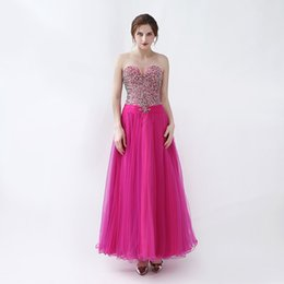 Strapless Sequin Red Dress NZ - Free Shipping Sparkle Romantic Sexy Strapless Evening Long Dresses With Beaded Beading Sequin And Sash Prom Gowns