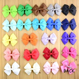 diy baby head bows Australia - free shipping 30pcs lot Ribbon Bows WITH CLIP Summer Style 22Color Girls Hair DIY Accessories Baby Head Bows Pins For Kids H0120