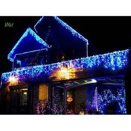 wholesaleeu 5m 20 led christmas icicle lights shape string fairy light xmas decoration christmas lights outdoor guirlande lumineuse led