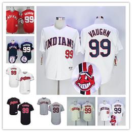men cleveland indians jerseys 99 ricky vaughn jersey flexbase cool base home away white red black