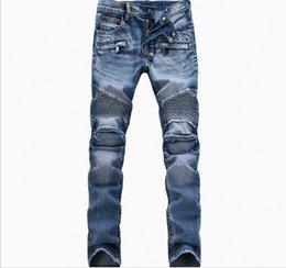 $enCountryForm.capitalKeyWord Canada - Wholesale-Fashion Men Jeans New Arrival Hip Hop Design Slim Fit Fashion Biker Jeans For Men Good Quality Blue Black Plus Size 28-40 ,YA141