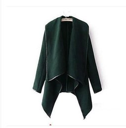 Short Wool Jackets For Women Canada - 2017Fall Winter Clothes for Women New European and American Wool & Blends Coats Ladies Trim Personality Asymmetric Rules Short Jacket Coats