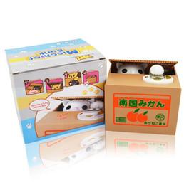 $enCountryForm.capitalKeyWord Canada - Novelty Electronic Cat Steal Money Toy Kids Coin Bank Piggy Bank Saving Money Box Itazura Children Christmas Gifts