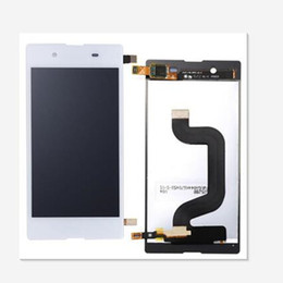 Discount e3 touch screen For Sony E3 Test New LCD Touch Screen Digitizer Replacement D2202 D2206 D2243 White Black Free Shipping