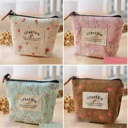 small zip wallet Australia - Wholesale- Fashion Women's Lady Small Canvas Purse Zip Wallets Coin Key Holder Case Bag Change Money Purse Bag 0403