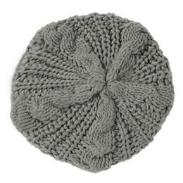 $enCountryForm.capitalKeyWord UK - Wholesale-Newest Women Baggy Beret Chunky Knit Braided Beanie Hat Ski Cap Light Grey