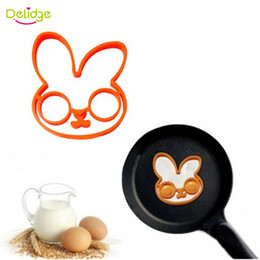 Portable Rings NZ - Delidge 20 pc Rabbit Shape Egg Mold Silicone Breakfast Egg Moulds Creative Lovely Cute Egg Pan Ring For Breakfast