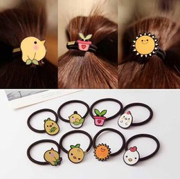 $enCountryForm.capitalKeyWord NZ - Hot sale Children's chicks sunflower hair band rubber sprouts sprout pots rope FQ046 mix order 100 pieces a lot