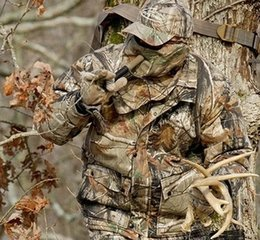 China Summer & Autumn Thin Bionic Camouflage Hunting Ghillie Suits Breathable Waterproof Silencer Army Fans Compound Bow Uniform Tactical Jacket suppliers