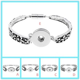 $enCountryForm.capitalKeyWord NZ - Fashion Vintage snap button Bracelet jewelry Flower Design DIY 18mm Ginger Snap Button Bangle Charm Cuff Jewelry 5 styles available