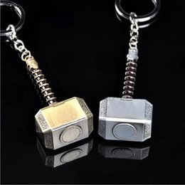 Cosplay Characters NZ - Zinc Alloy Keychains Captain America Hammer action figures Cosplay weapon