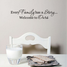 $enCountryForm.capitalKeyWord Canada - Every Family Has A Story Vinyl Wall Stickers Black Art Stickers Adhesive Decorative Wall Decals Home Decor Wallpaper