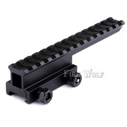 Scope Base Canada - Hunting High Scope Mount Scope Mount Base Flattop Riser Extended long for 20mm picatinny Weaver Rail