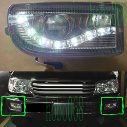 Toyota Housing NZ - 2x For Toyota Land Cruiser 4700 FJ100 1998 - 2007 Car Fog Light Housing with LED LENS