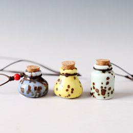 $enCountryForm.capitalKeyWord NZ - oil diffuser necklaces ceramic flowers small vial pendant necklace aromatherapy pendant vintage perfume bottle pendant necklaces best gifts