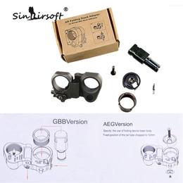 SINAIRSOFT Nouveau AR Pliant Stock Adaptateur Pour M16 M4 SR25 Série GBB AEG Noir pliant stock Pour Airsoft pièces