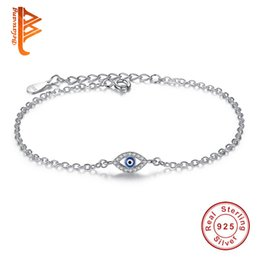 EnamEl Evil EyE charms online shopping - BELAWANG for Women Jewelry Sterling Silver Woman Bracelets CZ Crystal Charms Bracelet Blue Enamel Evil Eye Beads Bracelet