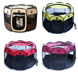 kennels pens Australia - Portable Folding Pet Tent Play Pen Dog Sleeping Fence Puppy Kennel Folding Exercise Play Foldable Pet Dog House Outdoor Tent Bag
