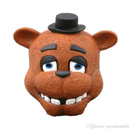 Costume De Costume Ours Pas Cher-Five Nights At Freddy's Full Face Mask FNAF Bonnie Chica Foxy Freddy Fazbear Bear Mask Halloween Dance Party Costume Festival Gift