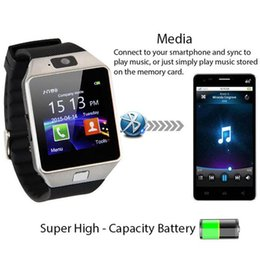 Clock For Mobile Canada - DZ09 Intelligent Mobile Phone Smart Watch Sport Clock With SIM Card Slot Push Message Bluetooth Connectivit Passometer For Android iPhone
