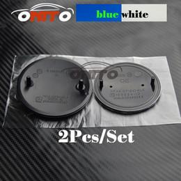 Ingrosso 82mm / 74mm Blu / Bianco Distintivo dell'emblema di tipo OEM originale BONNET cofano anteriore posteriore per BMW E46 E39 E38 E90 E60 Z3 Z4 X3 X5 X6