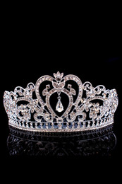 Couronnes De Strass Nuptiales Pas Cher-Bling Beaded Crystals Wedding Crowns 2017 Bridal Diamond Jewelry Rhinestone Headband Hair Crown Accessoires Party Tiara Cheap CPA791