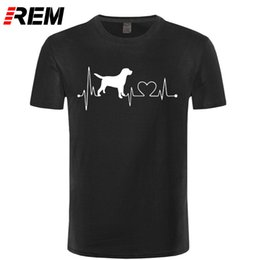 Top Valentines Gifts Canada - Dog Lover Heartbeat Summer T Shirt Men Funny Printed Custom Short Sleeve Tops Valentine Gift Cotton T-shirts Camisetas