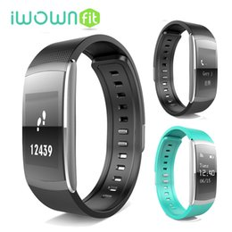 I6 wrIstband online shopping - Original iwown I6 PRO IWOWNFIT I6 PRO Smart Wristband Heart Rate Monitor IP67 Smart Bracelet Fitness Tracker for Andriod IOS