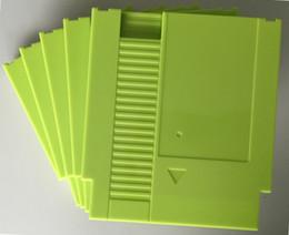 Vente en gros Couleur verte 72 goupilles en plastique de remplacement de cartouche de jeu de goupilles pour la console de NES