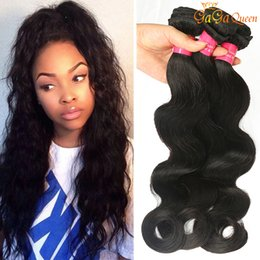 Discount cheap 18 human hair extensions - 3 Bundles Peruvian Virgin Hair Bundles Body Wave Peruvian Virgin Human Hair Wave Extension Cheap 8A Peruvian Hair Body W
