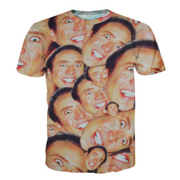 604763fb9 Wholesale-2016 hot Fashion Nicolas cage Crazy funny print Stare at you 3d T- shirt for men women casual 3d top tees plus size S M L XL