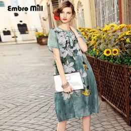 f49f358807 Dress party evening elegant European fashion runway luxury brand clothing  elegant print plus size linen silk dress M-3XL