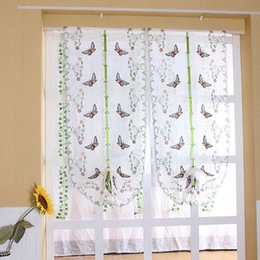 Discount embroidery bedroom curtains 2017 embroidery bedroom embroidery window curtains butterfly pattern living room bedroom roman curtain sheer curtains drapes roman shade ji0338 ccuart Gallery