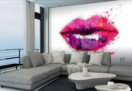 $enCountryForm.capitalKeyWord UK - Framed Patrice Murciano COLOURS OF KISS PINK LIPS,Pure Hand Painted modern Portrait Wall Art Oil Painting On Canvas.Multi sizeS PM024