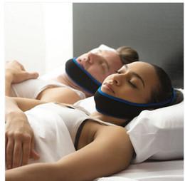 Discount stop snoring belt - Wholesale- 100pcs lot Anti Snore Stop Snoring Sleep Apnea Strap Belt Jaw Solution Chin Support