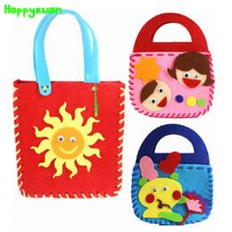 Kids Craft Making Canada - Happyxuan 5pcs lot Make Handmade Handbags DIY Non-woven Felt Fabric Cloth Kit kids Girl Art & Crafts Toys for Children