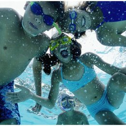 $enCountryForm.capitalKeyWord NZ - Colorful Adjustable Children Kids Waterproof Silicone Anti Fog UV Shield Swimming Glasses Goggles Eyewear Eyeglasses with Box