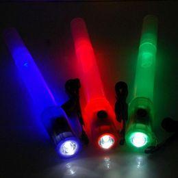 $enCountryForm.capitalKeyWord Canada - Multifunctional LED Glow Stick Whistle Flashlight Flasher Flashing Stick For Christmas Outdoor Survival Tools ZA3503