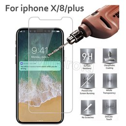 Iphone Glass Screen Guard Australia - Tempered Glass Screen Protector Film Guard 9H Hardness Explosion Shatter Film Protector For iPhone XS MAX XR X 10 8 7 plus 6S 5.8 6.5 inch