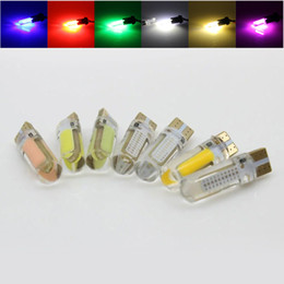 Crystal Plate Wholesale Australia - 50x T10 194 168 W5W White silica gel COB 20SMD LED Car Bulb Clearance Parking Light Crystal License Plate lamp 12V 50pcs