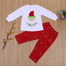 $enCountryForm.capitalKeyWord NZ - Baby Christmas Clothes Kids Santa Claus Printed Outfit Girl Sleepwear Xmas Toddler Christmas Clothing Set Children Boutique Clothes