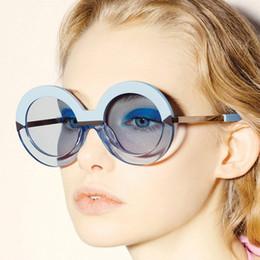 $enCountryForm.capitalKeyWord Canada - Wholesale-2016 New Brand Women Round Sunglasses Hollywood Pool Sea Blue Female Fashion Oversize Arrow Mirror Glasses Oculos UV400