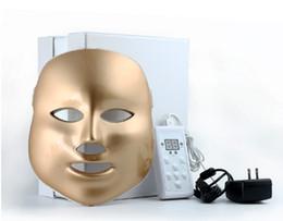 Blanc ou or 7 couleurs PDT Photon LED beau masque facial enlèvement de ride de rajeunissement de la peau machine électrique de soin de la peau masque anti-vieillissement de LED en Solde