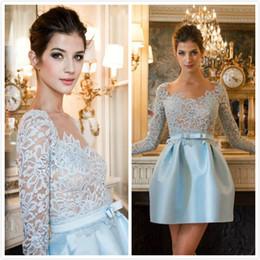 5f629e9e2 Vestido De Encaje Azul Peplum Online   Vestido De Encaje Azul Real ...