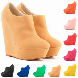 $enCountryForm.capitalKeyWord Canada - New Womens Autumn Winter Elegent Platform High Heels Suede Shoes Ankle Boots Wedges Botas Femininas Europe Size 35-42 D0042