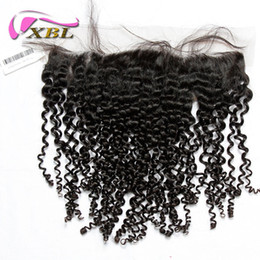 Brazilian hair lace frontal middle part online shopping - XBL Curly Lace Frontal Human Hair Extensions Brazilian Curly Virgin Hair Lace Frontal Curly Human Hair