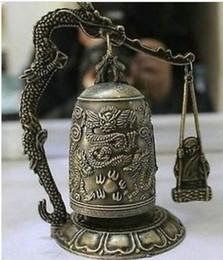 $enCountryForm.capitalKeyWord Canada - HOT sell ! Chinese Bronze Tibet Brass sculpture Dragon Buddhism pray Bell