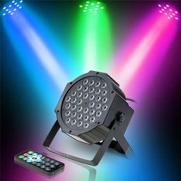 Discount active sound control - Laser lights Sound Activation Stage Light 36LED Remote Control PAR Light RGB Wash Effect Stage Lamp Party DJ Bar Club