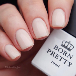 Base Un Gel Uv Pas Cher-Vente en gros - 10ml Gel Polish 3 in1 Born Pretty White Base Coat One Step UV Gel Gel Polyester Vernis UV 1 Bouteille # 24315